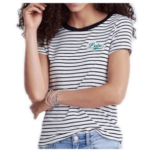 """American Eagle striped """"Babe"""" tee soft & sexy"""